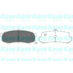 Комплект тормозных колодок, дисковый тормоз kbp9007 kavo - TOYOTA LAND CRUISER 80 (_J8_) вездеход закрытый 4.2 TD (HDJ80)