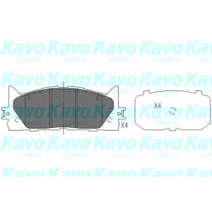 Комплект тормозных колодок, дисковый тормоз kbp9087 kavo - TOYOTA CAMRY седан (_XV4_) седан 2.4 VVTi Hybrid