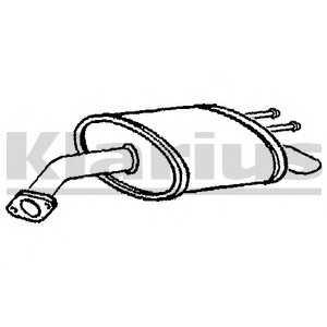 KLARIUS 210833 Глушитель задний