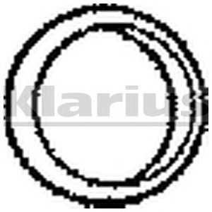 Уплотнительное кольцо, выпускной тр 410078 klarius -