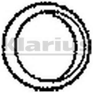 Уплотнительное кольцо, выпускной тр 410079 klarius -