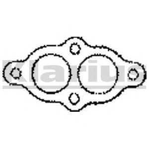 BOS256-302 Прокладка випускної системи BOSAL (шт.) 410082 klarius -