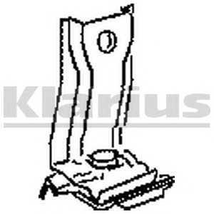 KLARIUS 430345 Кронштейн, система выпуска ОГ