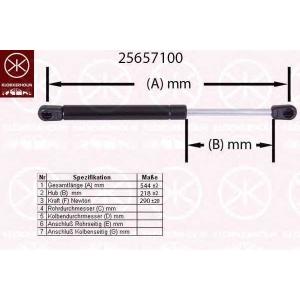KLOKKERHOLM 25657100 Амортизатор багаж