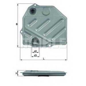 Гидрофильтр, автоматическая коробка передач hx46 mahle - MERCEDES-BENZ 190 (W201) седан E 1.8 (201.018)