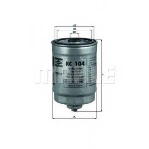 KNECHT KC104 Фільтр палива