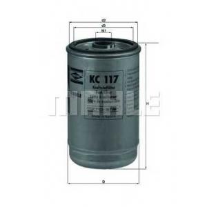 KNECHT KC117 Фильтр топл. DAF (TRUCK) (пр-во Knecht-Mahle)