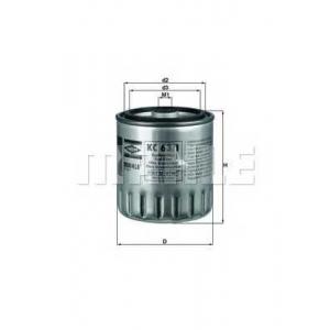 Топливный фильтр kc631d mahle - MERCEDES-BENZ 190 (W201) седан D 2.0 (201.122)