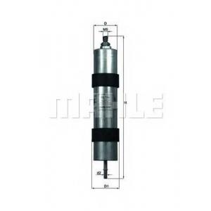Топливный фильтр kl104 mahle - BMW 5 (E39) седан M 4.9