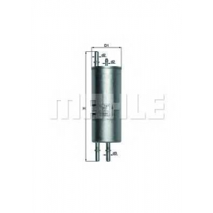 Топливный фильтр kl167 mahle - BMW X5 (E53) вездеход закрытый 4.4 i