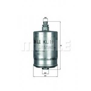 KNECHT KL19 Фільтр палива 190 W201/202/124/126  M102/104/111 >94