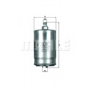 Топливный фильтр kl38 mahle - MERCEDES-BENZ 190 (W201) седан E 2.3-16