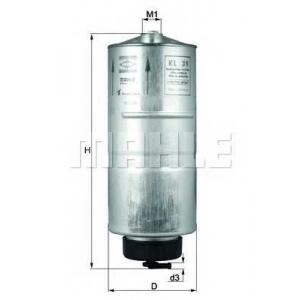 Топливный фильтр kl39 mahle - AUDI 80 (89, 89Q, 8A, B3) седан 1.6 D