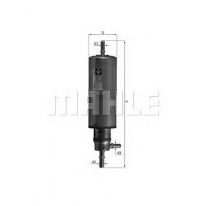 Топливный фильтр kl437 mahle - MERCEDES-BENZ M-CLASS (W163) вездеход закрытый ML 320 (163.154)