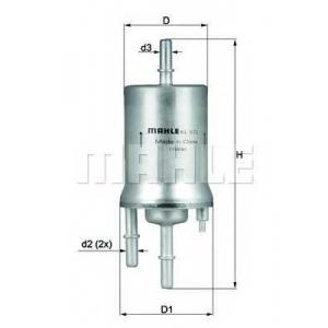 Топливный фильтр kl572 mahle - VW PASSAT (362) седан 1.4 TSI EcoFuel
