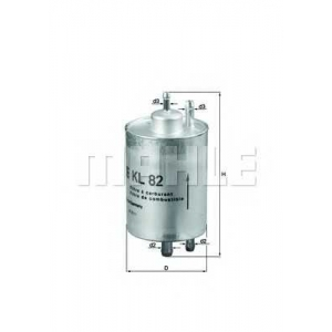 Топливный фильтр kl82 mahle - MERCEDES-BENZ G-CLASS (W463) вездеход закрытый G 55 AMG (463.270, 463.271)