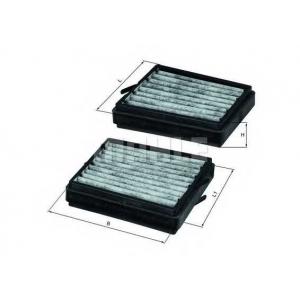 Фильтр, воздух во внутренном пространстве lkk116s mahle - MERCEDES-BENZ C-CLASS (W203) седан C 180 (203.035)