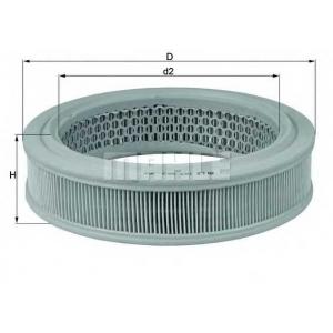 Воздушный фильтр lx157 mahle - FIAT 127 Наклонная задняя часть 0.9