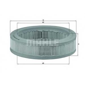 Воздушный фильтр lx487 mahle - RENAULT SUPER 5 (B/C40_) Наклонная задняя часть 1.0 (B/C/400)