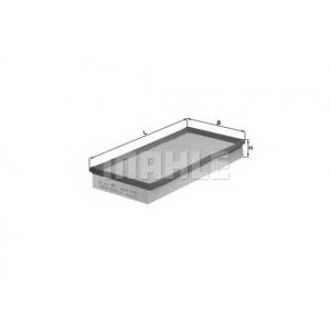 Воздушный фильтр lx726 mahle - VOLVO 850 (LS) седан 2.5 TDI