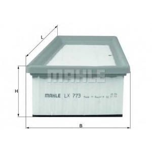Воздушный фильтр lx773 mahle - RENAULT KANGOO Express (FC0/1_) фургон 1.6 16V bivalent