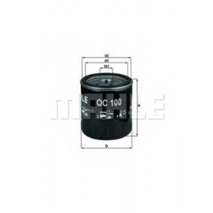 Масляный фильтр oc100 mahle - PEUGEOT 504 (A_, M_) седан 2.0 (A1, A13, MY1, MY3)