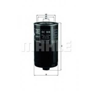 KNECHT OC105 Фільтр масла T4 2.4/2.5/LT 2.4
