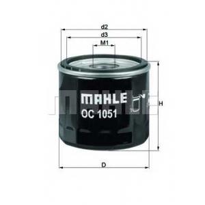 Масляный фильтр oc1051 mahle - FORD C-MAX II вэн 1.6 Ti