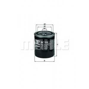 Масляный фильтр oc115 mahle - OPEL VECTRA A (86_, 87_) седан 1.7 TD