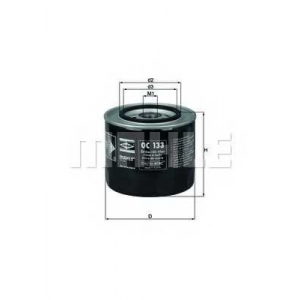 Масляный фильтр oc133 mahle - ALFA ROMEO GIULIETTA (116) седан 2.0 Turbo