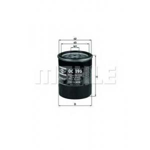 Масляный фильтр oc196 mahle - MAZDA 626 II (GC) седан 1.6