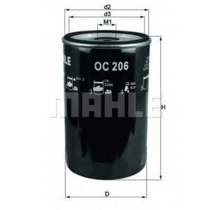 Масляный фильтр oc206 mahle - MAN G 90  6.100 F