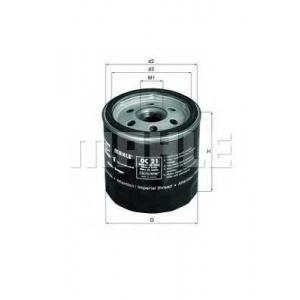 Масляный фильтр oc21of mahle - FORD ESCORT I (AFH, ATH) седан 1100