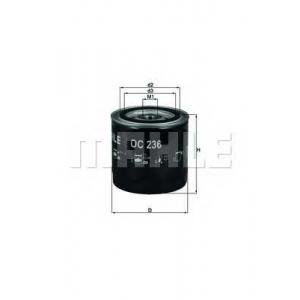 Масляный фильтр oc236 mahle - NISSAN NP300 пикап 2.5 dCi 4x4