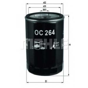 Масляный фильтр oc264 mahle - AUDI 80 (89, 89Q, 8A, B3) седан 2.0 E 16V