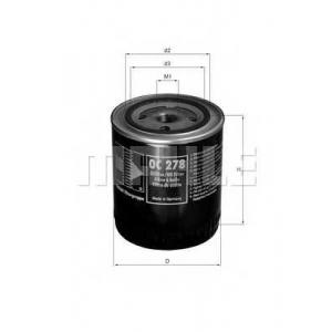 Масляный фильтр oc278 mahle - OPEL OMEGA A (16_, 17_, 19_) седан 2.3 TD