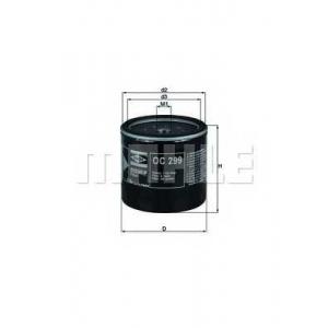 Масляный фильтр oc299 mahle - ISUZU CAMPO (KB) пикап 2.5 D (KBD27)