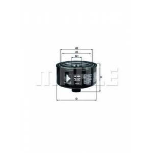 Масляный фильтр oc404 mahle - VW LT 28-46 II c бортовой платформой/ходовая часть (2DX0FE) c бортовой платформой/ходовая часть 2.8 TDI