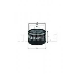 Масляный фильтр oc467 mahle - RENAULT MEGANE CC (EZ0/1_) кабрио 1.6 16V (EZ0U, EZ1U)
