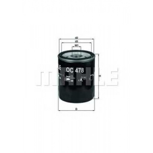 Масляный фильтр oc478 mahle - TOYOTA LAND CRUISER PRADO (KDJ15_, GRJ15_) вездеход закрытый 4.0 V6 VVT-i
