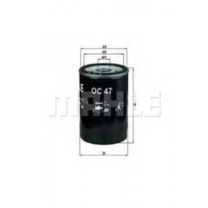 Масляный фильтр oc47of mahle - AUDI 50 (86) Наклонная задняя часть 1.1