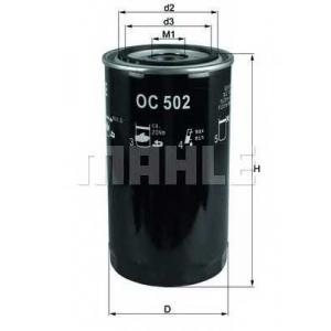 Масляный фильтр oc502 mahle - IVECO EuroCargo  65 E 13 tector