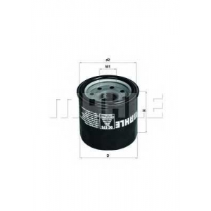 Масляный фильтр oc575 mahle -