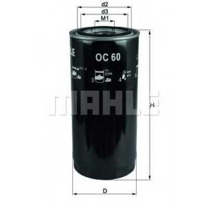 KNECHT OC60 Фильтр масляный DAF (TRUCK) (пр-во Knecht-Mahle)