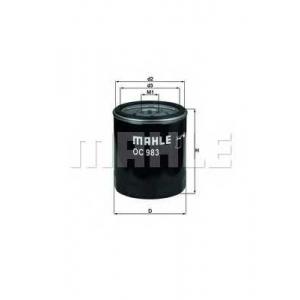 Масляный фильтр oc983 mahle - FIAT PANDA (141A_) Наклонная задняя часть 750 (141AA)