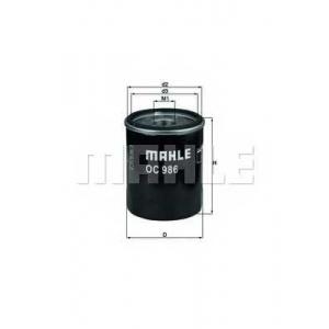 Масляный фильтр oc986 mahle - FIAT PANDA (169) Наклонная задняя часть 1.2
