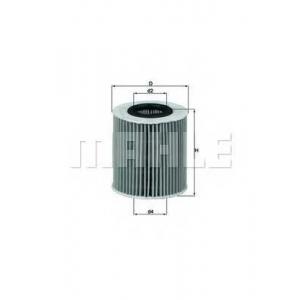 Масляный фильтр ox1661d mahle - BMW (BRILLIANCE) 3 SERIES (E90) седан 320i