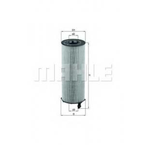 Масляный фильтр ox1961d mahle - AUDI A8 (4E_) седан 4.0 TDI quattro