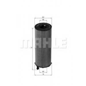 Масляный фильтр ox1963d mahle - PORSCHE CAYENNE вездеход закрытый 3.0 Diesel