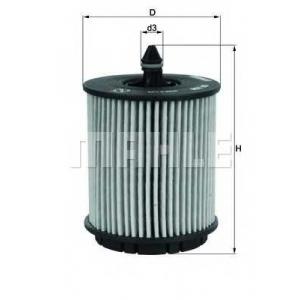 Масляный фильтр ox258d mahle - VAUXHALL ANTARA (J26, H26) вездеход закрытый 2.4